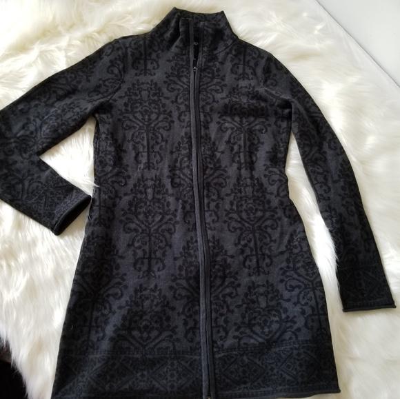 Cynthia Rowley Sweaters - Cythia Rowley Black zip front Thick Cardigan S C10